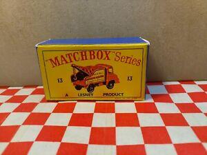 Matchbox Lesney No13 Thames Wreck Truck EMPTY REPRO Box only  NO TRUCK