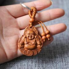Religiöser Maitreya Buddha Holz Sammelbare Tasche Mithelfer Und Schlüsselan S7D1