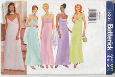 Bridal Bridesmaid Wedding Dress A-Line Butterick Sewing Pattern 5886 Uncut 18-22