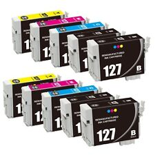10 Pack T127 127 Ink Cartridges for Epson 127 WorkForce 545 630 633 635 645 840
