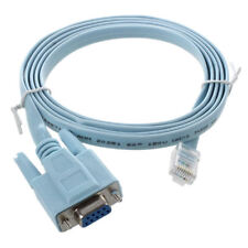 4.9 pies RJ45 macho a D-Sub RS232 DB9 hembra Adaptador Cable plano I8G9