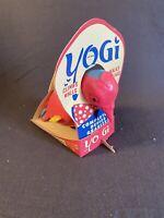 Vintage 1960s Yogi Toy Wall Climbing Pink Blue Bird Original box packaging Mint