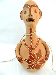 Brazil Terra Cotta Clay Outsider Art Figurine , Minas Gerais