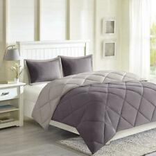 Madison Park Larkspur Reversible Down Comforter Set 3 PC King Charcoal/Grey