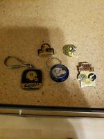 Oakland Raiders NFL Button Pins Keychain 3 pins 2 key chains fan wear football