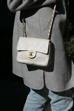 Authentic Chanel Vintage Quilted Small Classic Mini Square Flap Gold Hardwr Bag