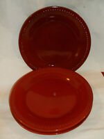 """Set Of 3 Pier One SPICE ROUTE PAPRIKA  Beaded SALAD Plate 8.5""""..NICE!"""