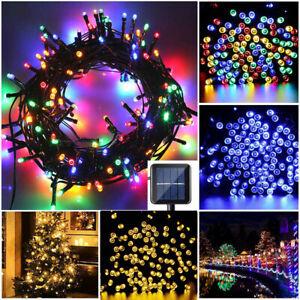Solar String Lights Outdoor Waterproof Fairy Party Lamp Xmas Garden Decor US