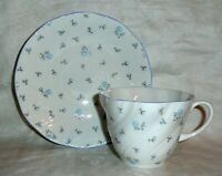Queens Rosina England Bone China Cup & Saucer Blue Roses Louise
