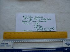 DURALINE Architects/Engineers Metric Scale Rule - Blundell Harling No.4-B. 330mm