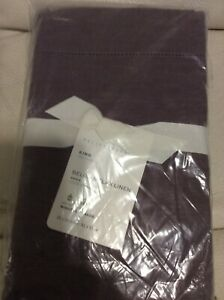 Pottery Barn One (1) Belgian Flax Linen King Sham Fig NWT! 20x36 Purple Solid