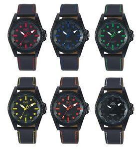 Q&Q Aluminum Analog Armbanduhr Uhr Damen Bunte Farbige Uhren Unisex
