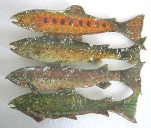IRON FOUR FISH WEATHER VANE / WEATHERVANE