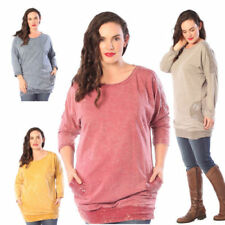 Long Sleeve Semi Fitted Tops & Shirts for Women with Pockets