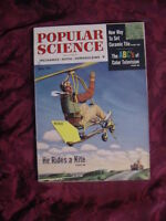 POPULAR SCIENCE Magazine July 1954 Flying Kite Color Television Radio Telescopes