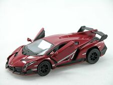 Kinsmart Lamborghini Veneno (Burgundy) 1:36 Die Cast Metal Collectable Car