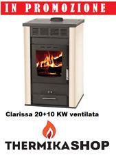 stufa a legna idro Clarissa 20+10 kw ventilata