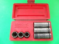 Metrinch 6pc Wheelnut Impact Socket Set  Used Complete Set