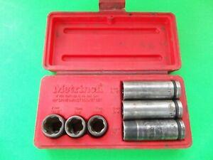 Metrinch 6pc Wheelnut Impact Socket Set  Used Complete Set