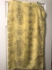Coldwater Creek Yellow & Brown Paisley Hearts Large Scarf *NWT* Polyester, Lg.