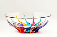 "BOWLS - ""VENETIAN CARNEVALE"" DECORATIVE CRYSTAL BOWL"