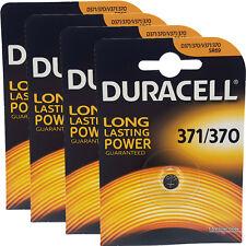 4 x Duracell 370 371 D371 SR69 SR920SW Silver Oxide Watch Batteries