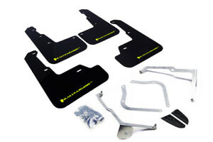Rally Armor Black Mud Flap w/ Green Logo FITS 15-18 Subaru WRX/STi Sedan UR