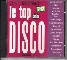 LE TOP DE LA DISCO - BONEY M - DONNA SUMMER - CLAUDE FRANCOIS -  CD ALBUM  24T