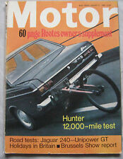 Motor magazine 27/1/1968 featuring Jaguar 240, Unipower 1275GT, Hillman, Roots