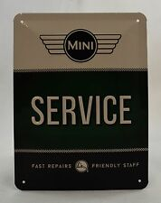 Superb Embossed Classic Logo Mini Service Tin Plate Wall Sign 20cm x 15cm NEW
