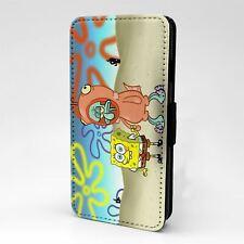 For Apple iPod Touch Flip Case Cover SpongeBob Cartoon - T175