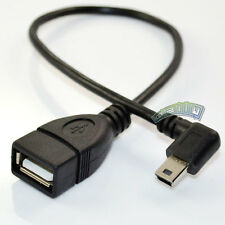 USB 2.0 A female to Right angled Mini B 5pin male plug data sync Cable Adapter