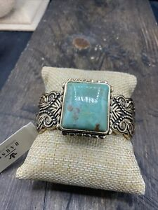 Barse Ambrosia Cuff Bracelet- Turquoise & Bronze- New With Tags