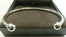 Solid Sterling Silver Torque Bangle 22 grams - 8mm balls - Ladies