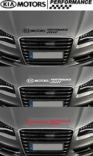 For KIA - 'KIA Motors Performance' - Bonnet Checks CAR DECAL STICKER 600mm long