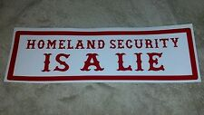 "HELLS ANGELS SUPPORT STICKER ""HOMELAND SECURITY"" BUMPER"