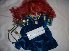 BUILD-A-BEAR DISNEY BRAVE MERIDA DRESS, WIG, ARCHERY SET