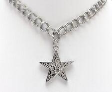 Halskette Modekette Statement Kette, Collier, Strass-Stern, silberf.kristall NEU