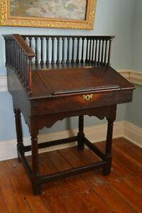 Early Oak Desk C.1720  (RARE!)