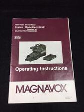 OPERATING INSTRUCTIONS MAGNAVOX VIDEO MOVIE MAKER CVJ310AV01