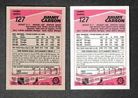 """1989-90 O Pee Chee """"Tembec Test"""" & Regular Cards Oilers #127 Jimmy Carson"""