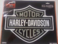 """HARLEY DAVIDSON MAGNETIC DECAL GRAY & WHITE """"BAR AND SHIELD LOGO""""  REMOVABLE"""