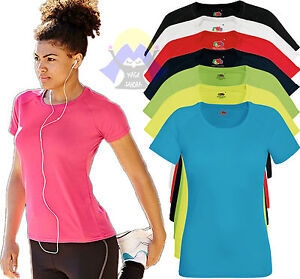 T-shirt PERFORMANCE Donna FRUIT OF THE LOOM Poliestere Manica Corta Sport WOMAN