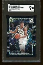 2017 Donruss Optic #81 Giannis Antetokounmpo Black Velocity /39 SGC 9