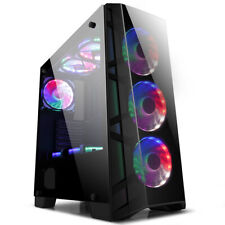 GOLDEN FIELD Z7 ATX M-ATX Mid Tower Gaming PC Computer Case For Desktop PC