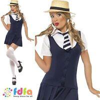 ST TRINIANS SEXY SCHOOLGIRL UNIFORM -UK 4-18 - womens ladies fancy dress costume
