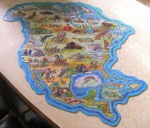 North America Vintage Waddingtons Jig Map Puzzle