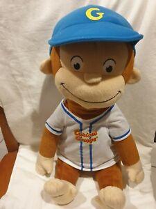 Curious George Monkey Plush Baseball Large Sitting Toy