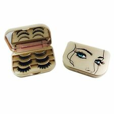 Travel Size Lash Case Eyelash Storage Box Organizer Storage Champagne 3 Pairs