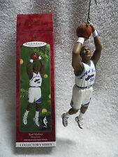 HALLMARK KEEPSAKE ORNAMENT BASKETBALL HOOP STARS 2000 KARL MALONE NBA UTAH JAZZ